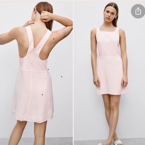 Pale pink Wilfred dress.